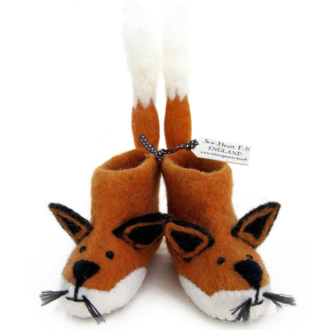 SEW HEART FELT Finley Fox Children's Felt Animal Slippers