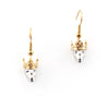 King & Queen Skulls with Crowns Drop Earrings | Bill Skinner
