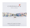 CINDERELA B Liberty of London Print fabric Wrap Bracelet & Star Charm