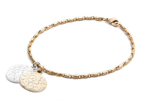 CINDERELA B Ancient Coin Infinity 22ct Gold Plate Vintage Bracelet