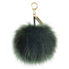 HELEN MOORE Large Pom Pom Faux Fur Keyring Charm Spruce Green Fashion Accessory