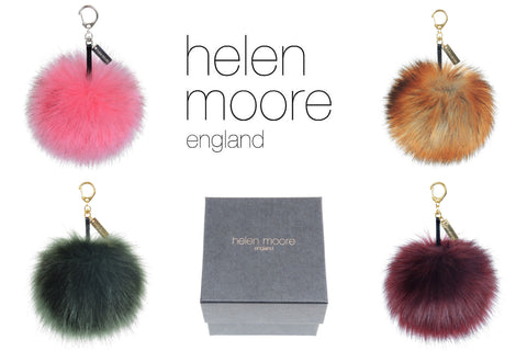 Large Pom Pom Keyring: 4 colours