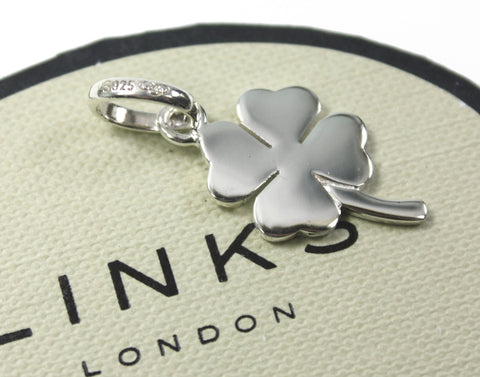 LINKS OF LONDON Sterling Silver 4 Leaf Clover Good Luck Charm 5030.0336