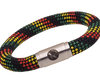 BOING Rope Wristband Bracelet: Chunky BOB - Black, Red, Yellow & Green