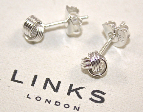 Classic Baby Knot Sterling Silver Earrings by Links of London