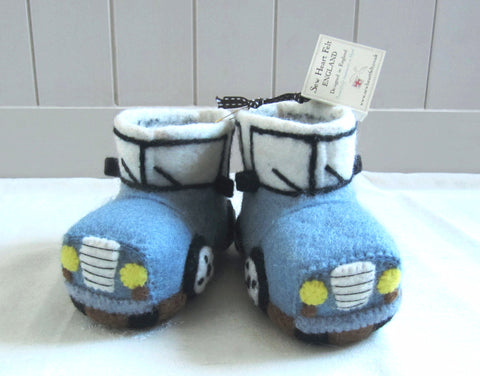 SEW HEART FELT Leo the Landy Children's Handmade Felt Animal Slippers