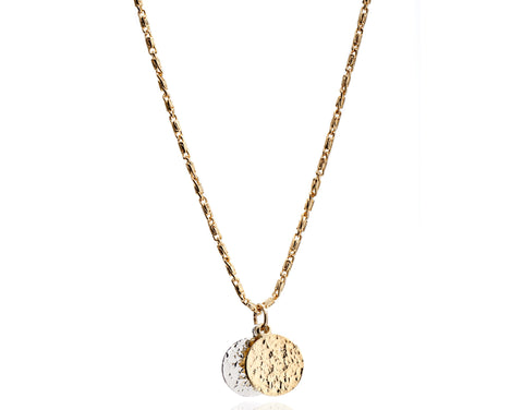 CINDERELA B Ancient Coin Infinity 22ct Gold Plate Vintage Necklace