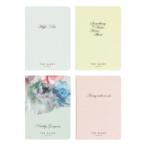 Pack of 4 Mini Sugar Sweet Notebooks in Box | Ted Baker