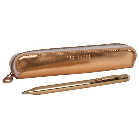 Rose Gold effect Touchscreen Stylus Ballpoint Pen | Ted Baker