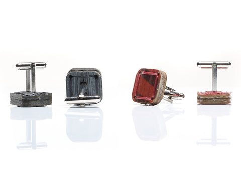 Reclaimed Fire Hose Cufflinks: 4 colours by Elvis & Kresse