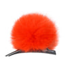 HELEN MOORE Pom Pom Faux Fur Concorde Hair Clip: Blaze Orange