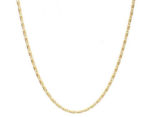 Infinity Gold Plate Chain Necklace by Cinderela B: 46cm or 76cm