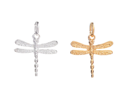 CINDERELA B Dragonfly Charm: in choice of 22ct Gold Plate or Silver Plate