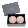 HELEN MOORE Pom Pom Faux Fur Shoe / Boot Clips: Dusty Pink