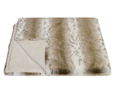 Faux Fur Comforter Throw: Lynx