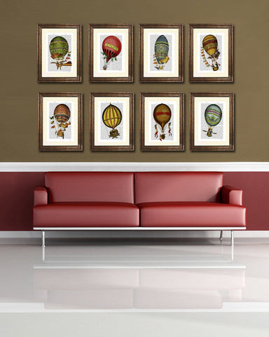 A Selection of Ballon Antiquarian Book Prints by FabFunky