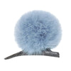 HELEN MOORE Pom Pom Faux Fur Clip on Concorde Clip: Powder Blue