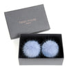 HELEN MOORE Pom Pom Faux Fur Shoe / Boot Clips: Powder Blue