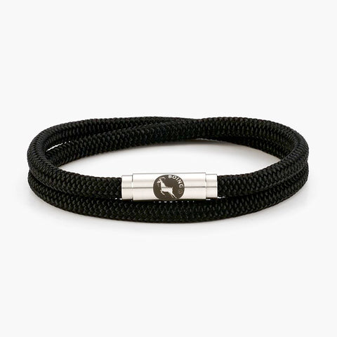 Sailing Rope Skinny Double Bracelet by Boing: RAVEN