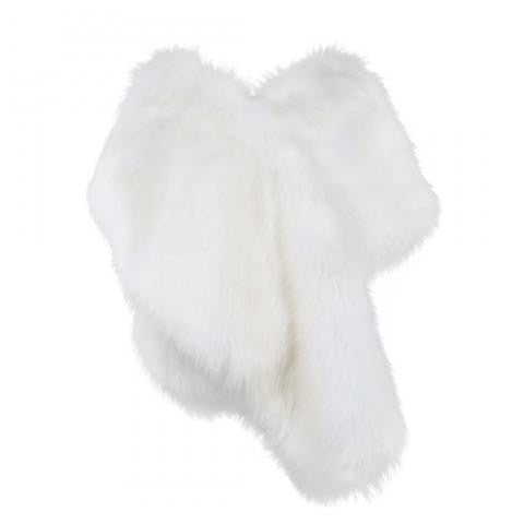 Helen Moore Faux Fur Bridal Evening Stole: Snow White