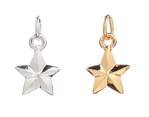 CINDERELA B Star Charm: in choice of 22ct Gold Plate or Silver Plate
