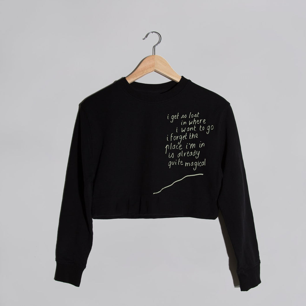 'magical' Black Cropped Sweater