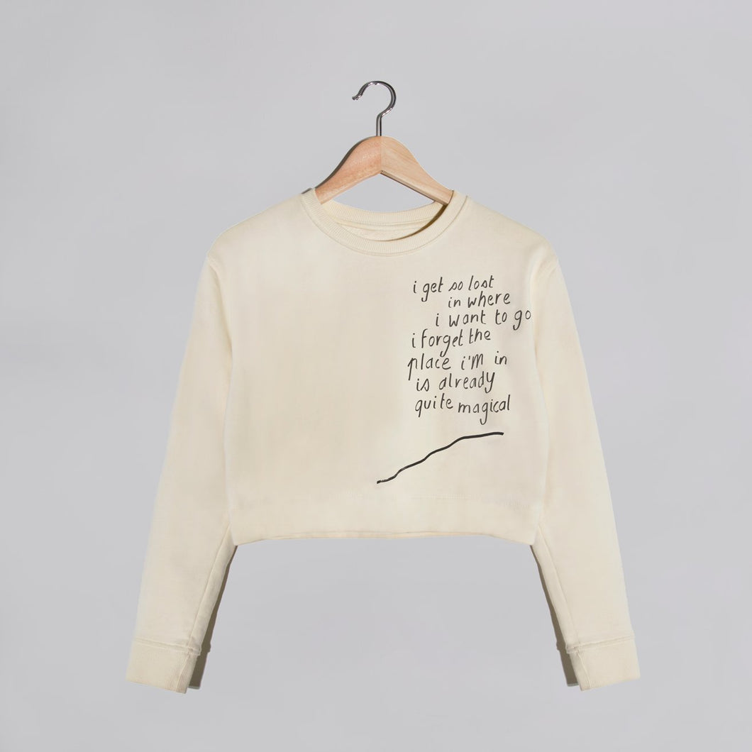 'magical' Cream Cropped Sweater