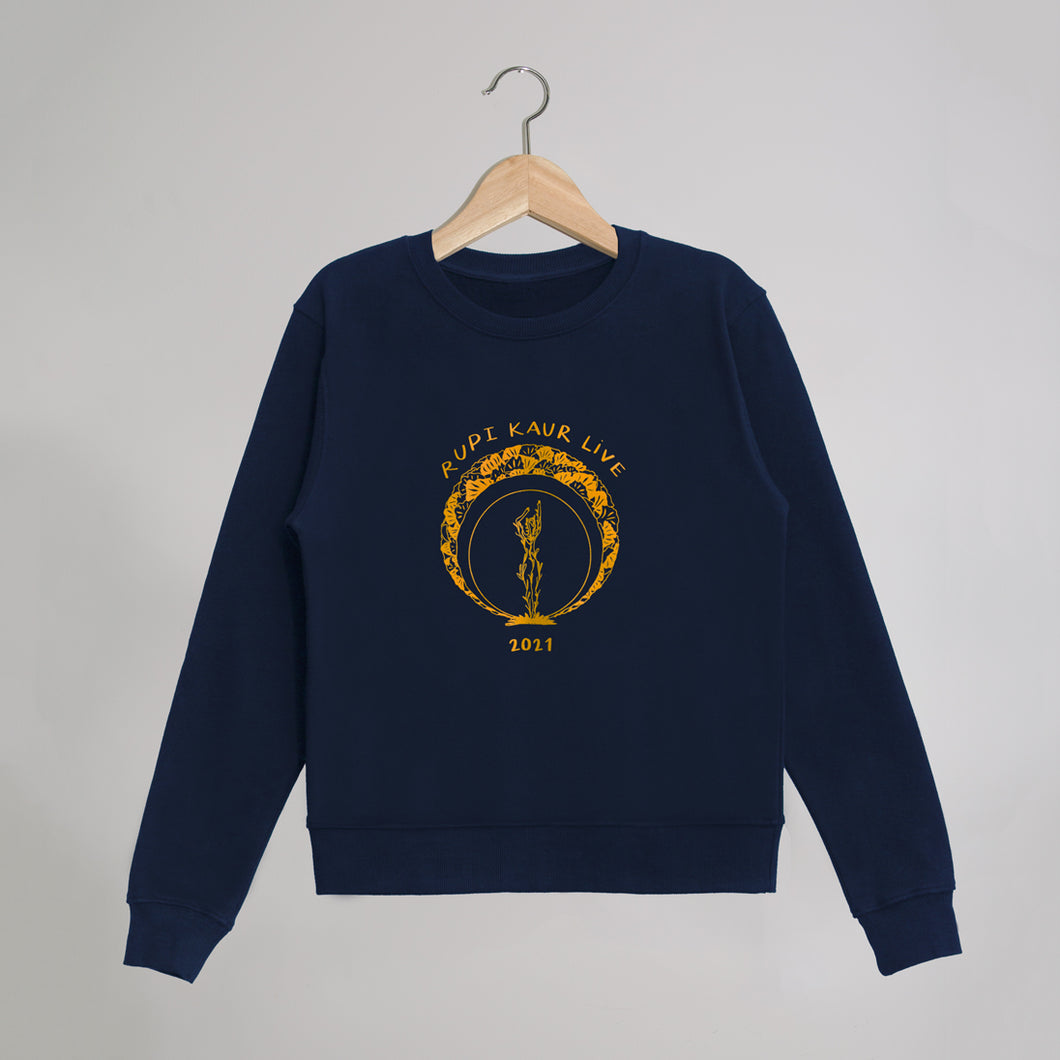 'Rupi Kaur Live' Navy Sweater + Ticket Bundle