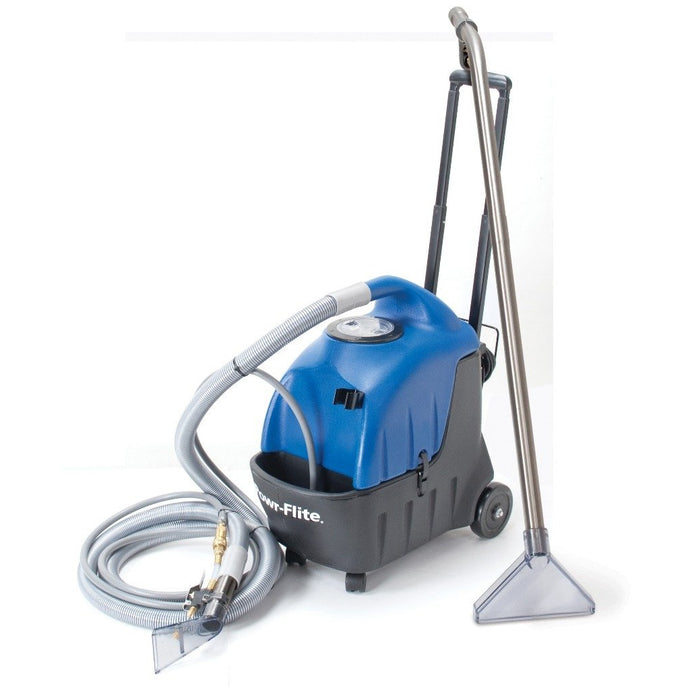 Steel Blue Portable 3.5 Gallon Carpet Spotter - With Floor Wand Detail Tool and 10' Hose