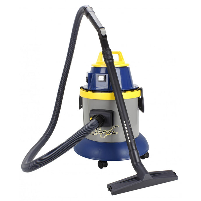 Light Goldenrod Wet & Dry Commercial Vacuum - Electrical Outlet for Power Nozzle - 10' (3 m) Hose - Brushes and Accessories Included