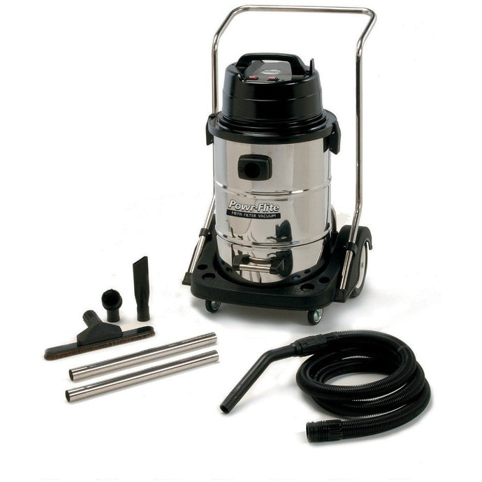 Dark Gray 20 Gallon Wet/Dry Vacuum - With Stainless Steel Tank and Tools