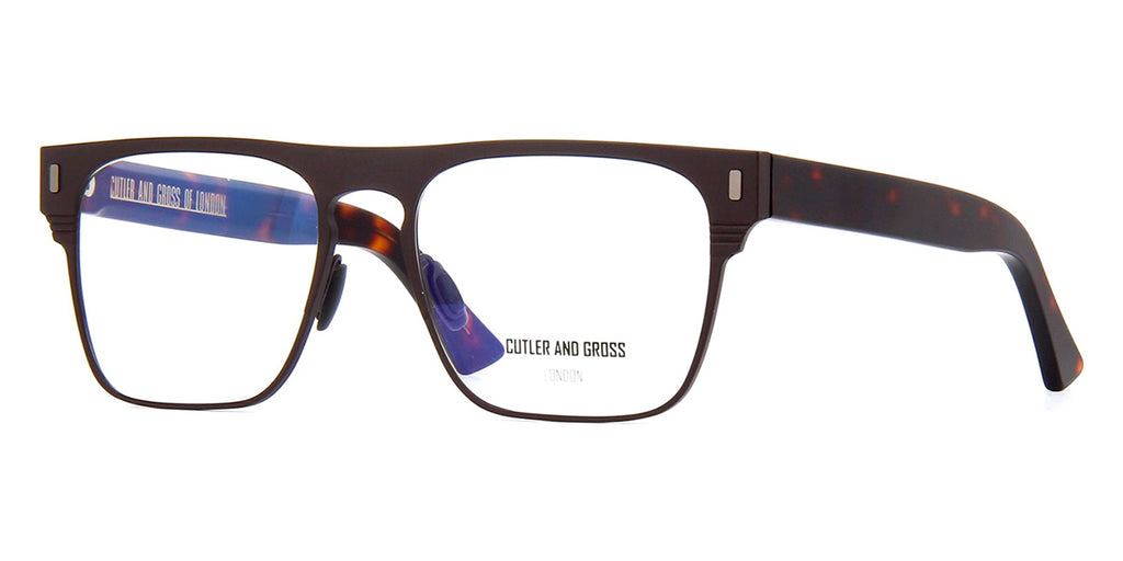 Cutler and Gross 1366 02 Matte Brown on Dark Turtle Glasses