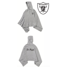 Ladies St. Regis Raiders Poncho Heather Grey