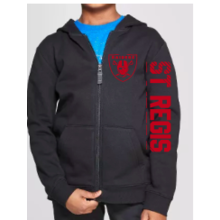 Youth Black Zip-up Hoodie - Boys