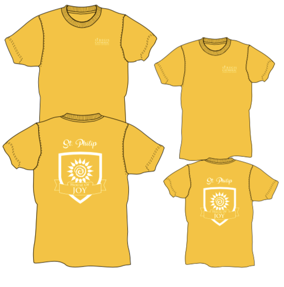 Adult House Shirt - YELLOW St. Philip House of Joy