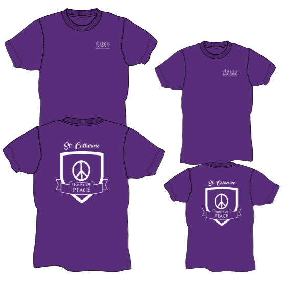 Adult House Shirt - PURPLE St. Catherine House of Peace