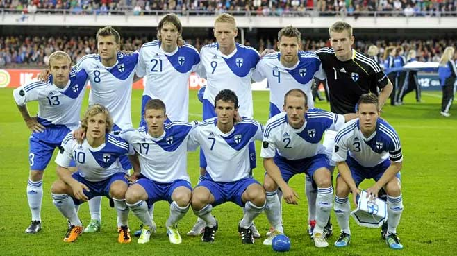 2014 home kit for Team Finland