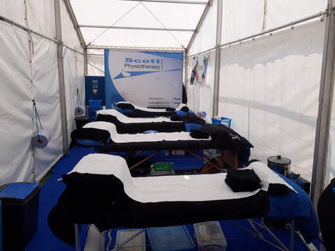 The Scott Physio tent before the madness started!