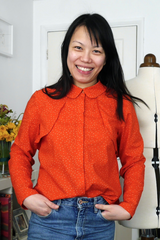 Marine wears self made Helmi Trench Blouse