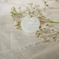 Linen fabric with flower
