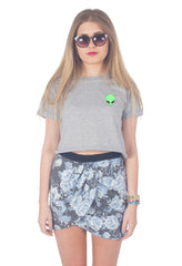 Alien Head Crop Shirt