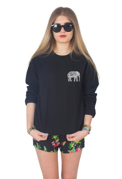 Boho Elephant Sweater