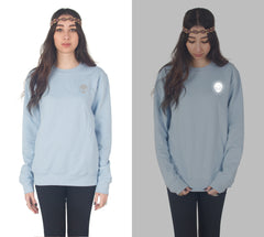 Reflective Alien Head Sweater