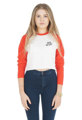 You're Too Close Crop Raglan Shirt