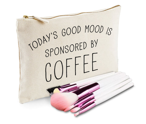 Today's Good Mood Is Sponsored By Coffee Makeup Bag