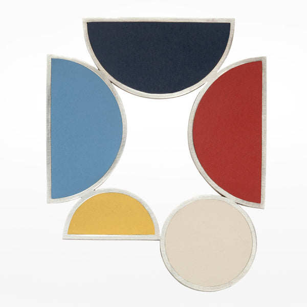 Oxx Composition of Five Colours Brooch