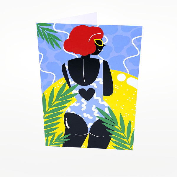 Swimsuit Greetings Card