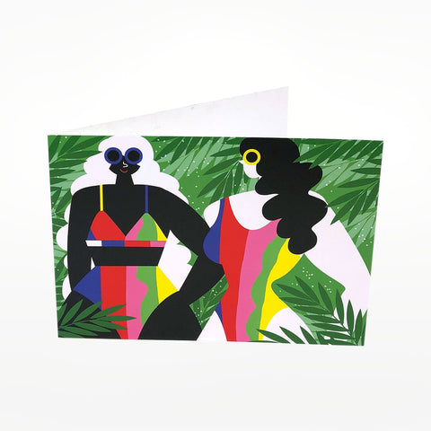 Tropical Huns Greetings Card