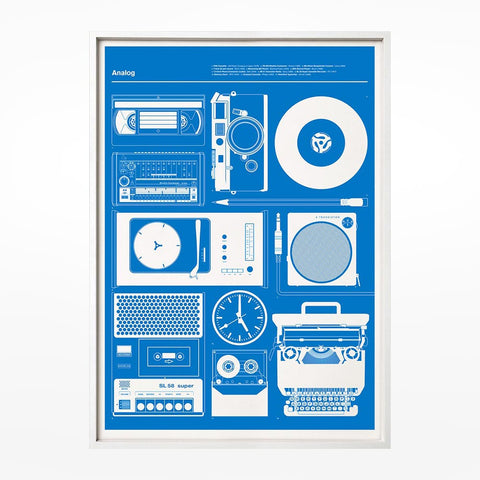 Boomboxes print - grey