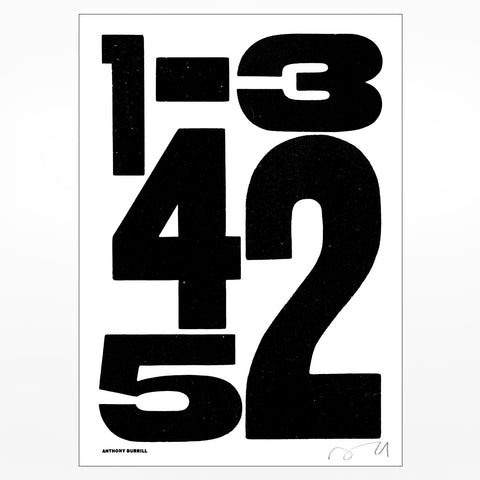Anthony Burrill signed screen print: 12345